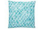Murphy 20x20 Linen Pillow, Turquoise