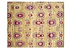"7'9""x9'9"" Searcy Rug, Gold/Green"