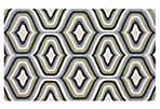 5'x8' Walter Trellis Rug, Sage/Blue