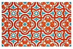 8'x10' Hagen Outdoor Rug, Orange/Multi