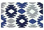 5'x8' Khloe Rug, Blue/Ivory