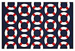 8'x10' Zane Outdoor Rug, Navy