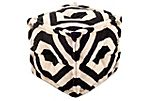 Eva Pouf, Black/White