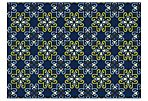 Ala Outdoor Rug, Navy/Lime