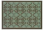 Foxton Outdoor Rug, Blue/Brown