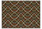 Omana Outdoor Rug, Brown/Multi