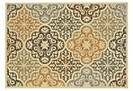 Palm Outdoor Rug, Ivory/Multi