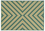 Sampson Outdoor Rug, Blue/Green