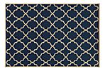 Marine Outdoor Rug, Navy/Ivory
