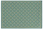 Romers Outdoor Rug, Blue/Ivory