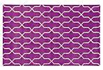 Optic Rug, Purple/Ivory