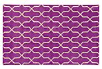 Optic Rug, Purple/Ivory