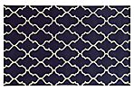 Optic Rug,  Navy/Ivory