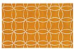 Optic Rug,  Yellow/Ivory