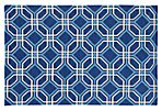 Matrix Rug, Blue/Ivory
