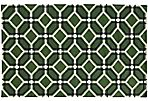 Matrix Rug, Green/Charcoal