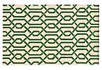 Matrix Rug, Ivory/Green