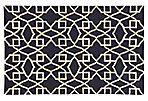 Matrix Rug, Navy/Ivory