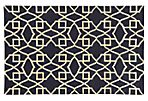 Matrix Rug, Navy/Ivory