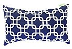 Links 12x20 Outdoor Pillow, Blue