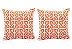 S/2 Dancer 20x20 Outdoor Pillows, Orange