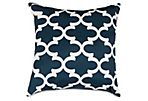 Trellis Outdoor Pillow, Navy