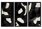 Contemporary Black Swirls Triptych
