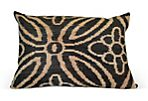 Blossom 16x24 Silk Velvet Pillow, Gray