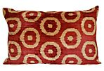 Beste 16x24 Silk-Blended Pillow, Red