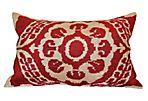 Bruna 16x24 Silk Pillow, Red