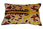 Nalan 16x24 Silk Pillow, Yellow