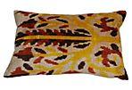 Nalan 16x24 Silk Pillow, Yellow