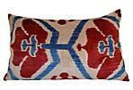 Thea 16x24 Silk Pillow, Red