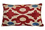 Etta 16x24 Silk Pillow, Red