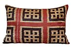 Addie 16x24 Silk Pillow, Red/Black