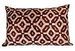 Murial 16x24 Silk Pillow, Brown