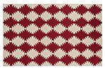 8'x10' Elsa Flat-Weave Rug, Red/Beige