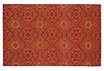 Oaken Flat-Weave Rug, Brick Red