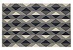 Giaimo Flat-Weave Rug, Black