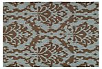 Rufus Outdoor Rug, Brown/Blue