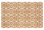 Cleo Rug, Orange/Ivory