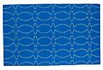 Juba Flat-Weave Rug, Blue