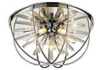 Twilight 6-Light Flush Mount, Chrome