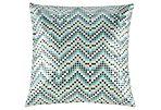 Bali 18x18 Cotton Pillow, Seaweed