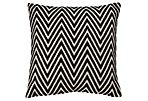 Chevron 16x20 Cotton Pillow, Black