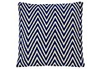Chevron 16x20 Cotton Pillow, Blue