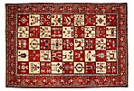 "6'10""x9'10"" Ludmila Rug, Red"