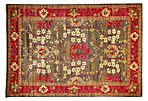 "6'3""x9'1"" Lublin Rug, Red"
