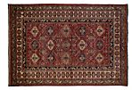"6'10""x9'8"" Bayole Rug, Red"
