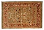 "4'2""x6' Ottoman Hand-Knotted Rug, Red"